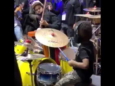 Lewis & Logan - Amazing 4 Year Old Drummer!
