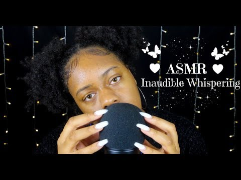 ASMR | Unintelligible/Inaudible Whispering + Plucking Energy, Tapping, Scratching (Fast) ~