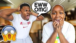I SHAVED MY HEAD TO SEE HOW MY BOYFRIEND WOULD REACT! **HE FLIPS**
