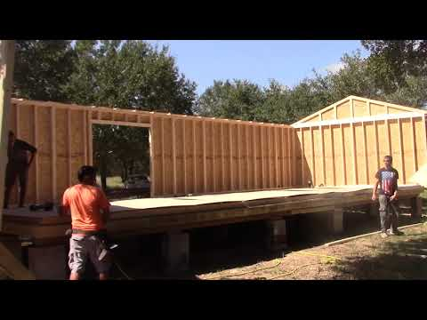 16x40 Shed Build from Start to Finish in One day - YouTube