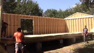 16x40 Shed Build from Start to Finish in One day