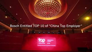 "Bosch China Entitled TOP 10 of ""China Top Employer"""