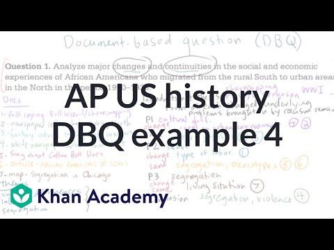 AP US history DBQ example 4   The historian's toolkit   US History   Khan Academy