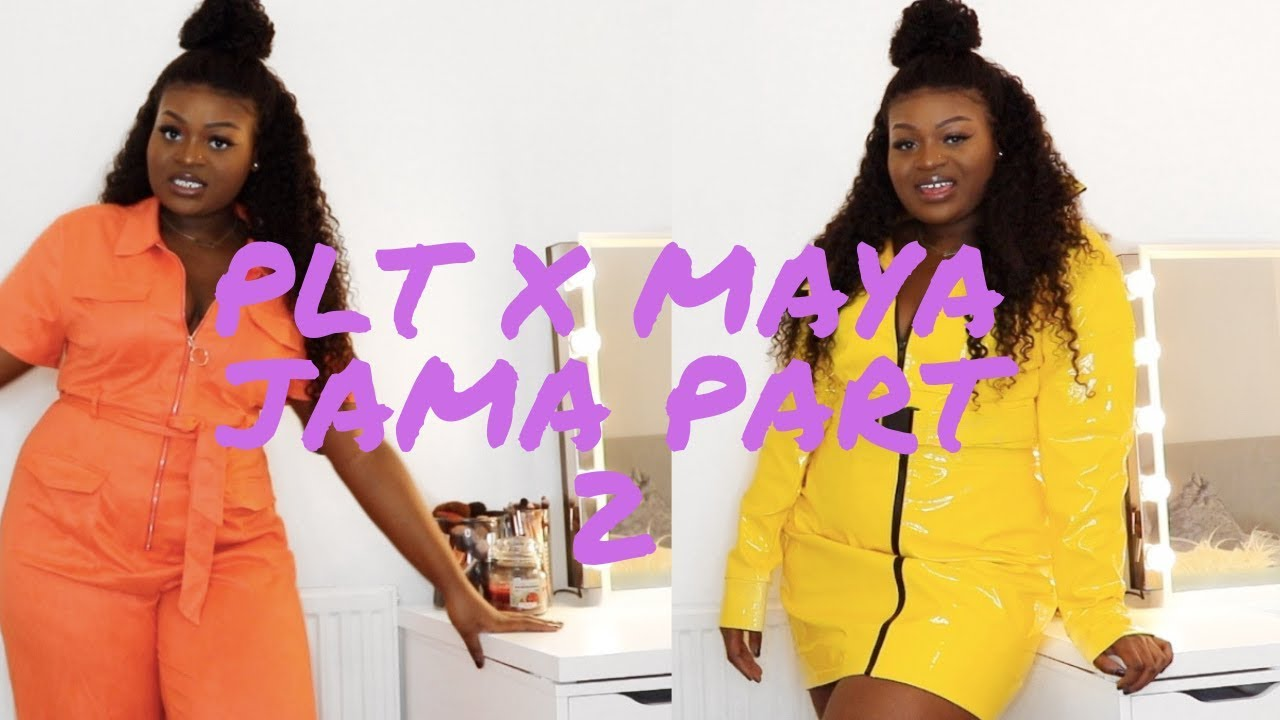 ad60aa067b MAYA JAMA x PRETTYLITTLETHING PART 2 TRY-ON   REVIEW FOR PLUS SIZE   CURVY  GIRLS