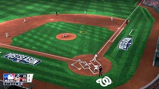 RBI Baseball 15 (PS4) Nationals vs Braves (Playoff Mode)
