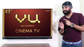 VU Cinema TV 43 inch Full HD with 40W Built-in Soundbar | Full Review by Tech Singh