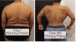 Weight loss transformation | Fat loss transformation | Body transformation  | Before & After 80I