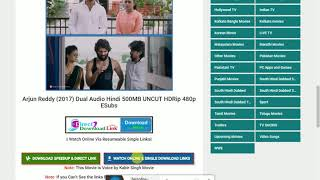 tamilrockers leak hd rip 100% free hindi /dubbed /downlord / arjun reddy /south blockbuster