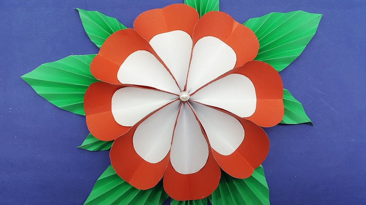 Origami Paper Flower Easy with colors paper - DIY Paper Flowers ...