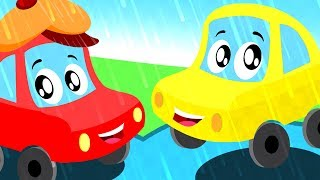 little red car in rain rain go away a nursery rhyme song for children by Kids Channel