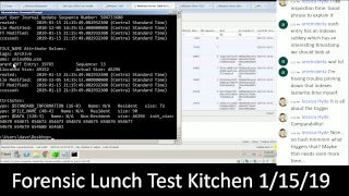 Forensic Lunch Test Kitchen 1/15/19 Server 2008 R2 Syscache Mimikatz