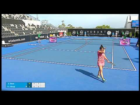 Zarina Diyas v Camila Giorgi highlights (1R) | Hobart International 2016