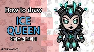 ice queen drawing lesson