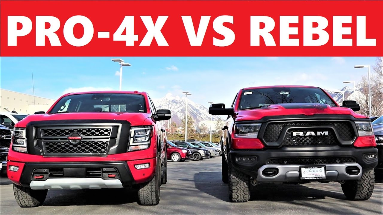 2021 Ram Rebel Vs 2021 Nissan Titan Pro-4X: Which $60,000 Truck Are You Taking Home?