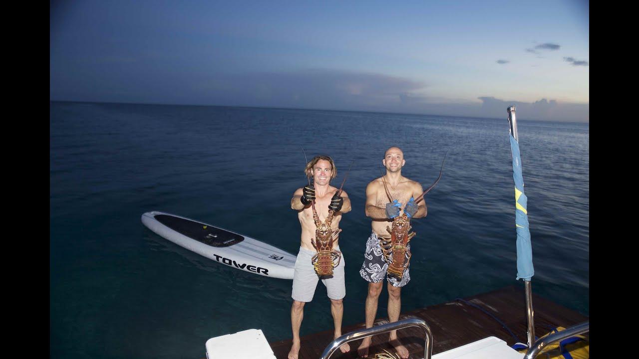 Spearfishing Massive Lobster Cay Sal, Bahamas - YouTube
