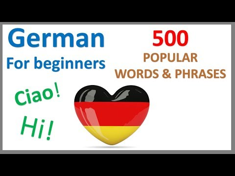 German for Beginners | 500 Popular Words & Phrases