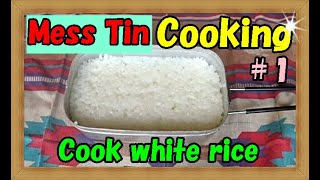 【Mess Tin Cooking】(Trangia)We cook rice 1 in Mestinメスティンで米1合炊くの巻【Camp cooking】
