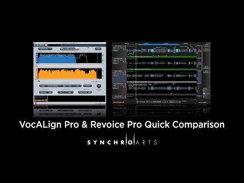 VocALign Pro 4 & Revoice Pro 4 Quick Comparison