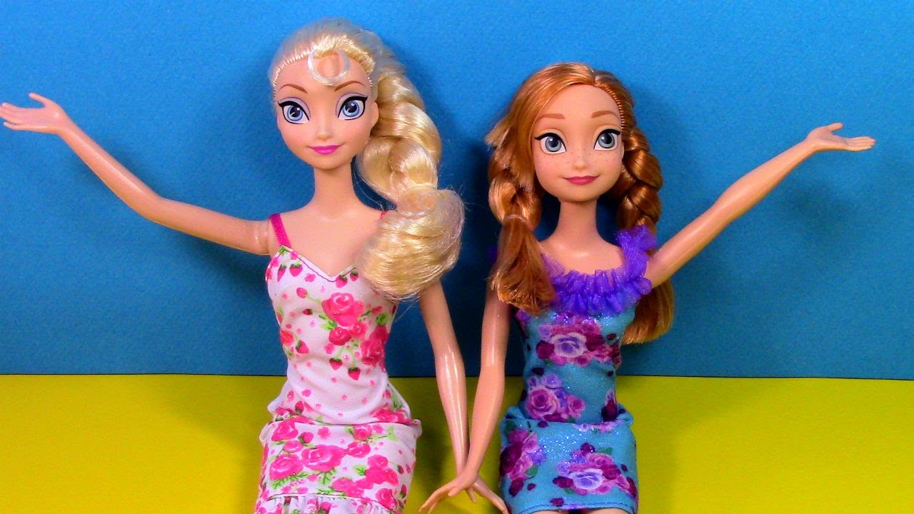 Seesaw ! Elsa and Anna - playground - slide - Barbie ...