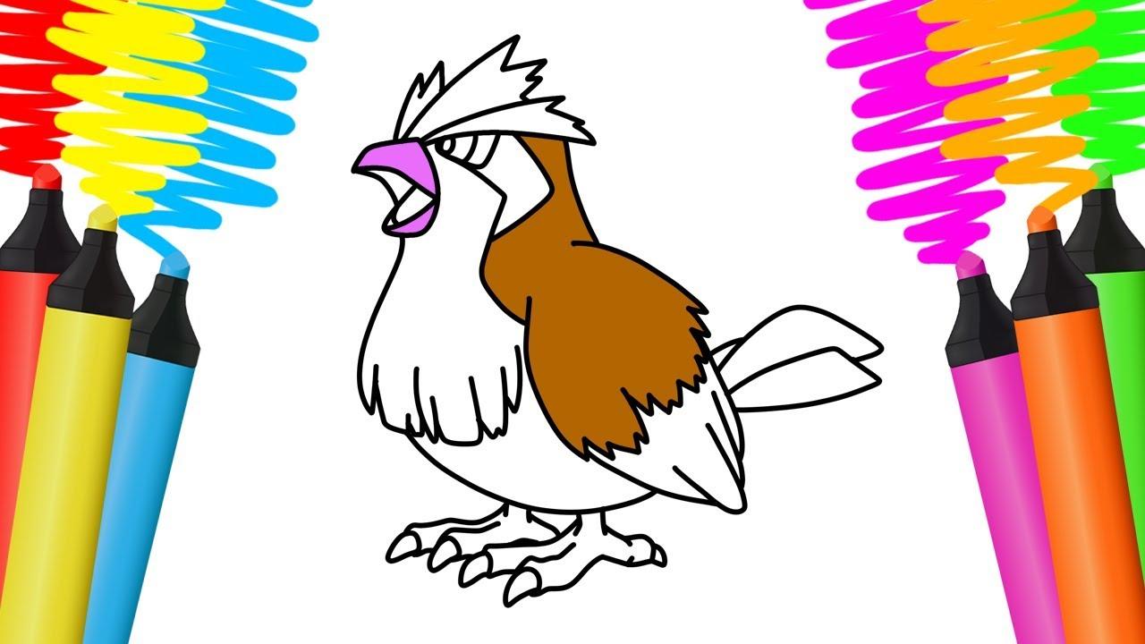Como Desenhar E Pintar Pidgey Pokemon Desenho Para Colorir Youtube