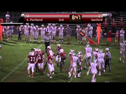 Sanford High School Football vs South Portland 9-18-2015
