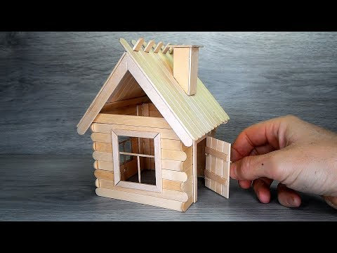 Popsicle Stick House DIY