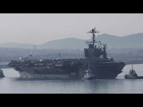 USS TRUMAN Arrivée Marseille 21 juin 2018