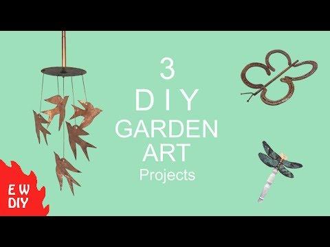 3 DIY Garden Art projects