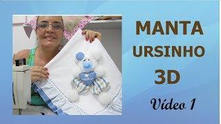 Como fazer a manta ursinho 3d – parte 1