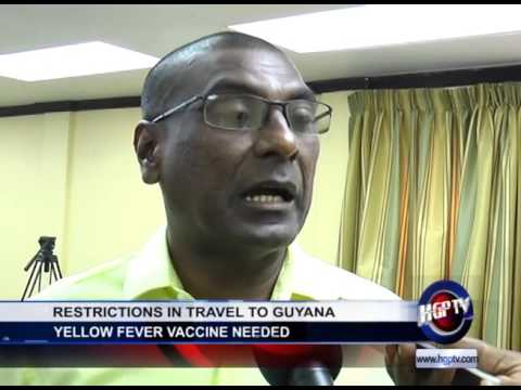RESTRICTIONS IN TRAVEL TO GUYANA