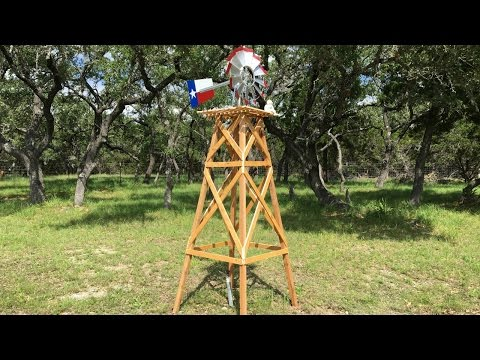How to Build a Wooden Windmill Base