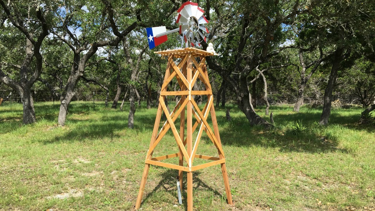 How To Build A Wooden Windmill Base Youtube