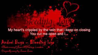 Bleeding love in the style of Jesse McCartney (karaoke / instrumental with lyrics ) - male version