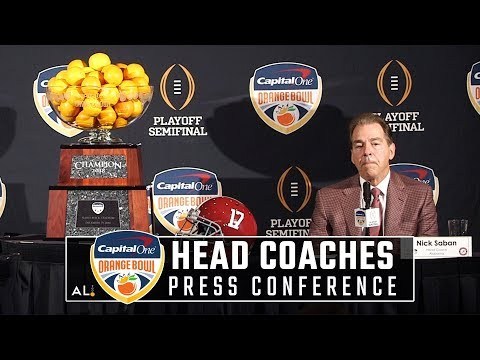 Nick Saban and Lincoln Riley Orange Bowl press conference