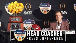 Nick Saban and Lincoln Riley Orange Bowl press conference