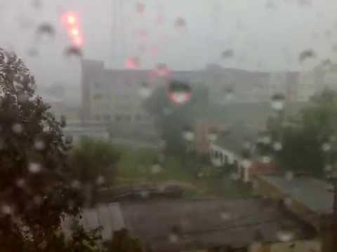 Мощнейший ливень 31июля 2013 г. в г.Карталы,Челябинской области