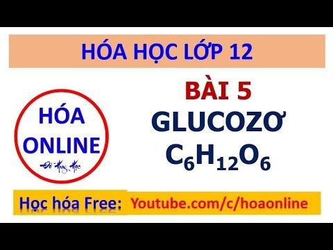 Hóa học 12 – Bài 5 – Glucozơ – C6H12O6