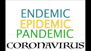 What is the difference between a Endemic, Epidemic and Pandemic
