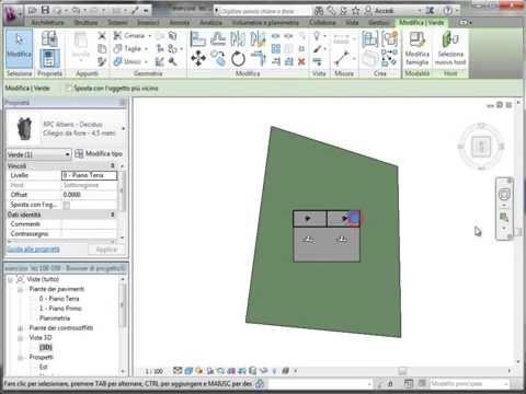 Corso Autodesk Revit livello base: Etichettatura della superficie topografica