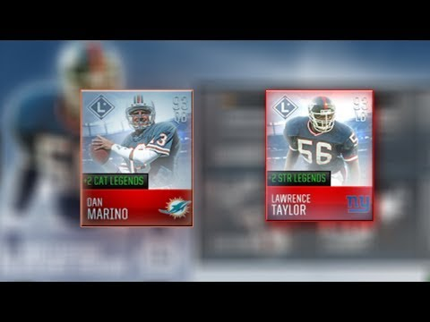 93 DAN MARINO AND LAWRENCE TAYLOR LEGENDS GAMEPLAY! MADDEN MOBILE 18