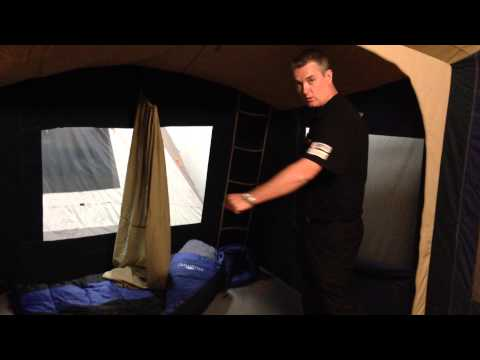 Australia's best tents - introducing the exciting new Diamantina Riviera - 3 room canvas tent