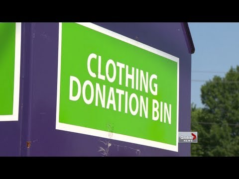 Truth Behind Some Clothing Donation Bins