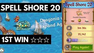 Merge Dragons Spell Shore 20 • 3 Stars On 1st Win ☆☆☆