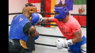 Pacquiao leaves sparmate with bloodied nose in final sparring session of year