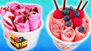 Удивительная Уличная Еда. Ролл Мороженое. Тайское Мороженое. Жареное Мороженое