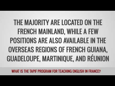 ITTT FAQs - What is the TAPIF Program for teaching English in France?