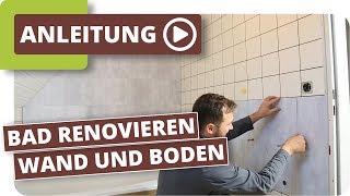 Bad neu gestalten - Boden und Wände im alten Badezimmer renovieren mit planeo