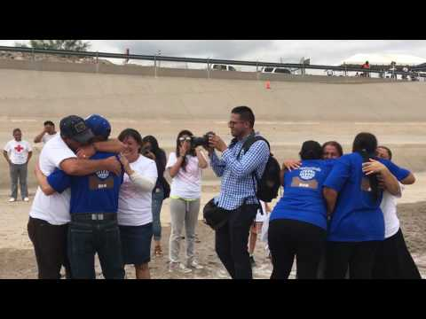 Reunited Families Get To Hug Across The US-Mexico Border