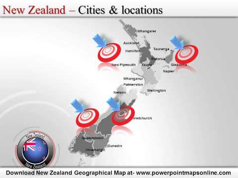 New Zealand Geographical Map
