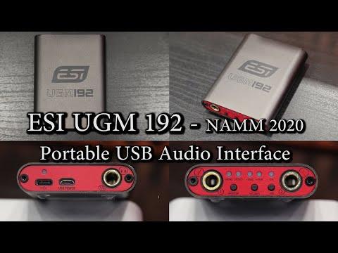 ESI UGM192 Portable USB Audio Interface - NAMM 2020